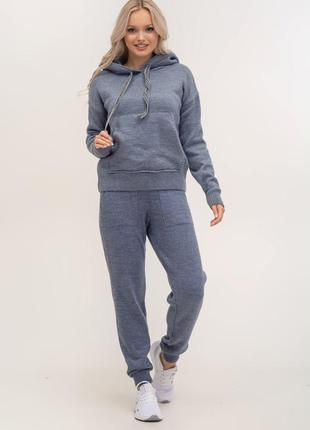 Костюм вязаный трикотажный  свитер и брюки