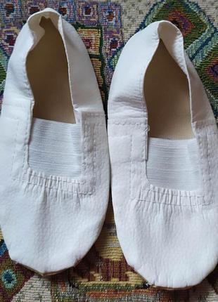 Белые чешки, балетки! цвет  белый!  18 см стелька!