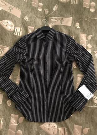 Блуза-рубашка zara. размер м