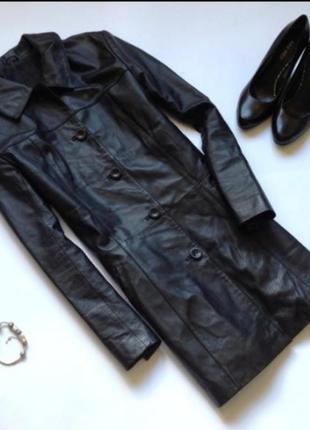Черная женская кожаная куртка натуральная кожа демисезон осень...
