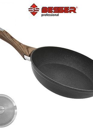 """Сковорода """"Wooden"""" индукционное дно 28см 10298"""