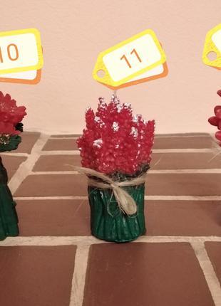 Декоративная свеча цветы