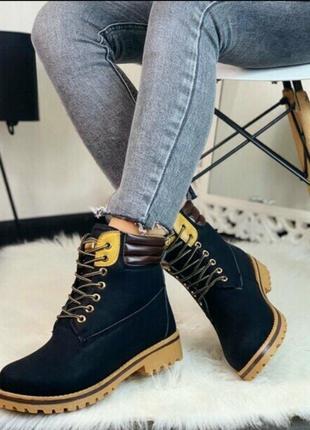 Sale! ботинки черные женские зимние