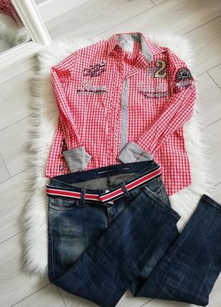 Набор джинсы+рубашка на размер с