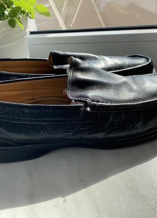 Кожаные туфли мокасины мужские размер 43 (27 см).