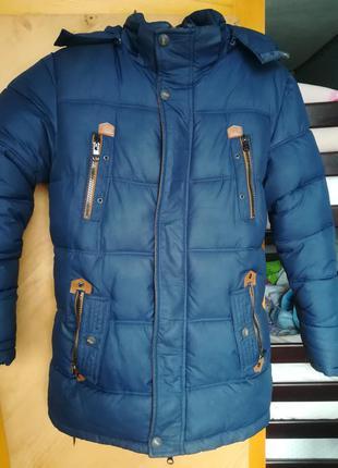 Пуховик парка куртка курточка зимняя дутик зима удлинённая муж...
