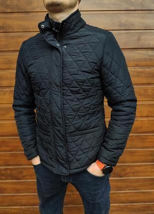 Стеганая куртка парка пальто мужская хб пуховик курточка пальт...