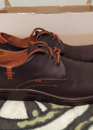 Кожаные туфли calif, 44 размер, стелька 29 см