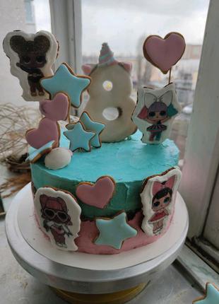 Торт лол lol цена всего торта ( 3 кг) с украшениями