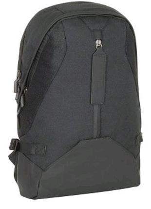 Черный рюкзак городской для женщин и мужчин полиэстер Optima