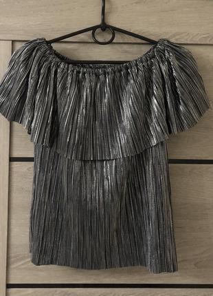 Блестящий топ блуза