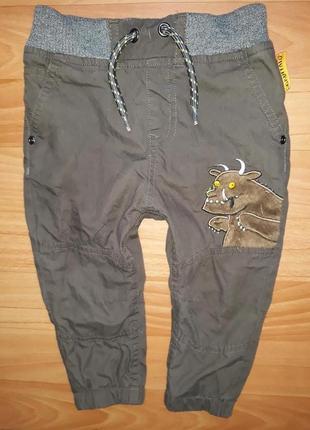 Утепленные штаны-джоггеры tu на 12-18 мес
