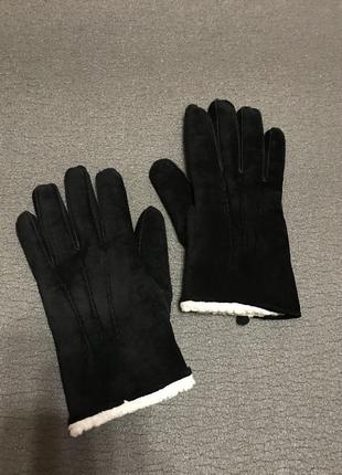 Замшевые перчатки на меху