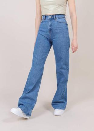 Прямые джинсы с высокой талией, палаццо