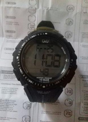 Мужские спортивные часы Q&Q 150 Lap Memory