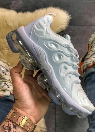 Крутые кроссовки 💪nike vapormax tn plus triple white💪