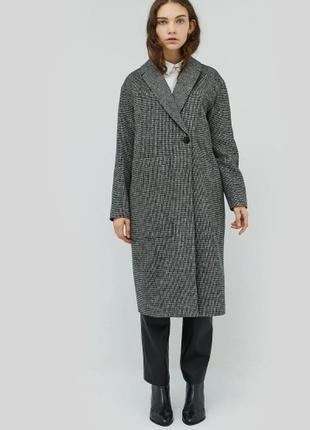 Пальто оверсайз серое шерсть натуральное cardo