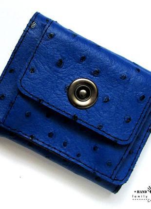 Компактный кошелек из натуральной кожи ручной работы. видео