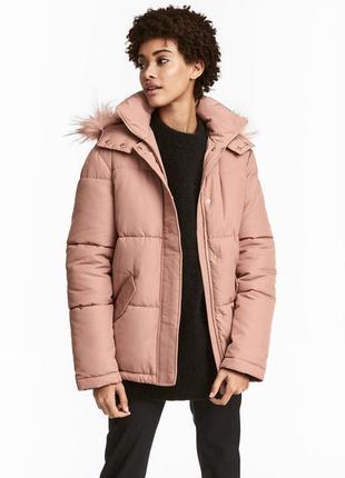 Зимняя куртка с капюшоном от h&m