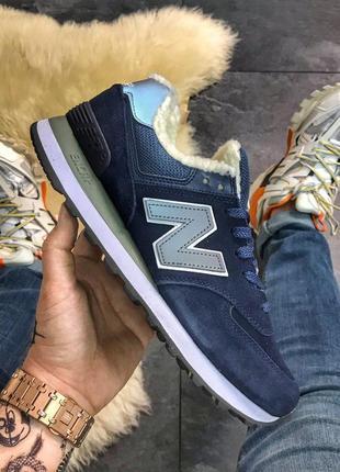 Модные кроссовки  💪new balance 574 blue fur💪