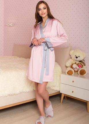 Халат, розовый халат, пеньюар