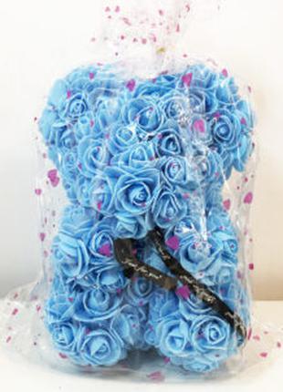 Лучший подарок: мишка из искусственных 3D роз 25 см