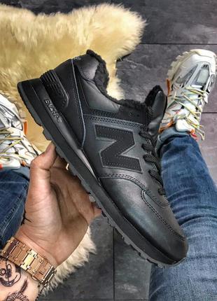 Бомбезные кроссовки 💪new balance 574 black fur💪