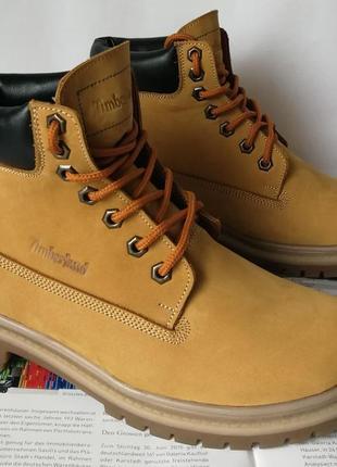 Натуральная кожа зимние мужские ботинки тимберленд натуральный...