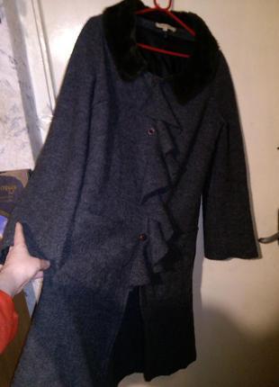 Необыкновенное,асимметричное пальто,валяная шерсть,бохо,большо...