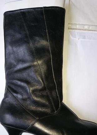 Женские сапоги демисезонные кожаные