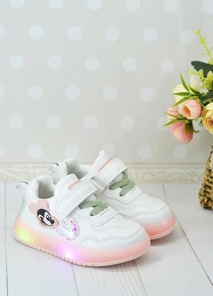 Детские кроссовки с подсветкой, мигалками