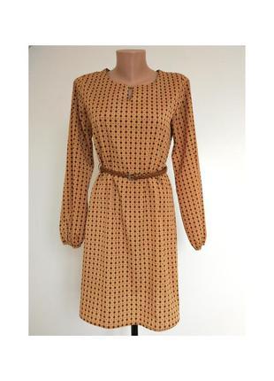 Сукня прямого крою, платье с длинным рукавом