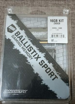 Оперативная память Crucial Ballistix Sport DDR4 SODIMM 16gb (8...