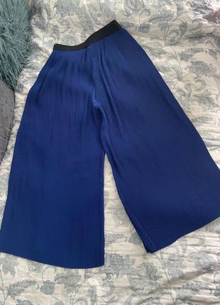 Кюлоты (брюки, штаны) Zara в рубчик