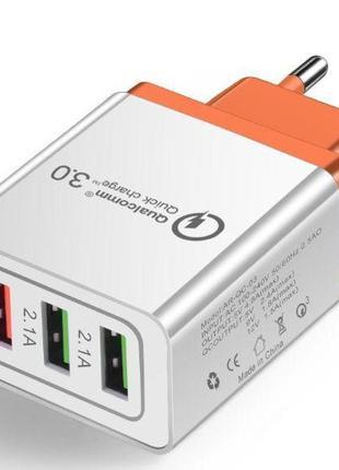 Универсальное Зарядное Устройство - Crouch 3 USB Qualcomm quic...