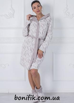 "Домашний халат с капюшоном ""Palermo"" (арт. 1008)"