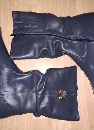 Зимние сапоги 43-44 р кожаные на толстой подошве большого размера