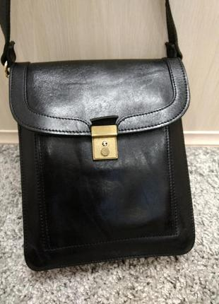 Мужская кожаная сумка планшетка
