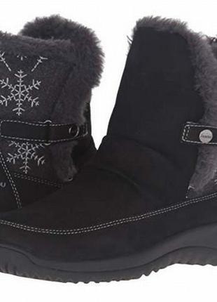 Сапоги черные кожаные зимние оригинал сша rp 149dol. jambu 38.5