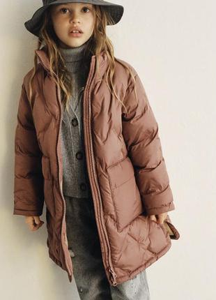 Стёганная куртка-пальто р.152