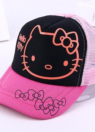 Бейсболка, кепка, головные уборы детские для девочки kitty