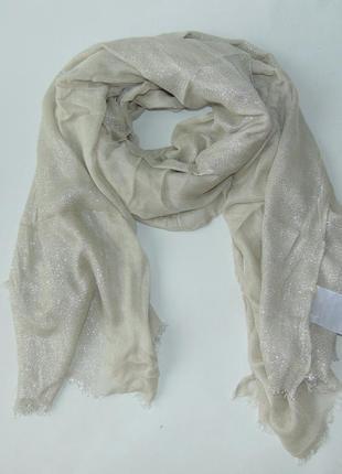 Нарядный шарф палантин с люрексом серебро c&a германия