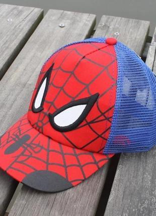 Детская кепка бейсболка человек паук (spider man) с гнутым коз...