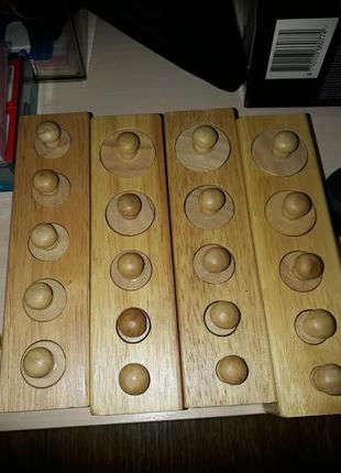 Блоки деревянные цилиндры Монтессори