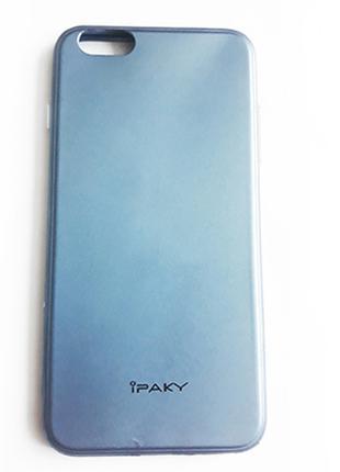 Силіконовий чохол iPaky для Apple iPhone 6 Plus/6S Plus (Чорний)