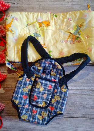 Набор бортиков+кенгуру (эрго рюкзак)