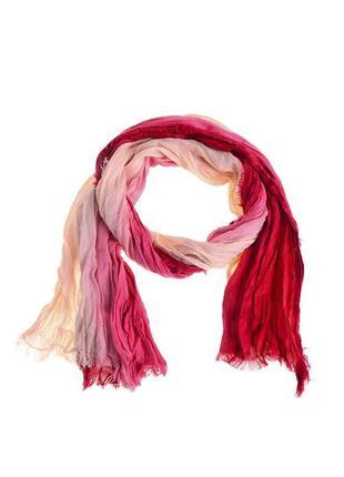 Легкий шарф-палантин жатка градиент акрил terranova италия