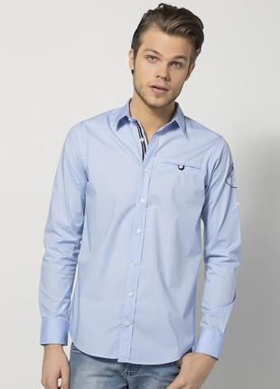 Голубая мужская рубашка размер xl
