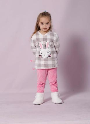 Теплая детская пижама 8-9 лет
