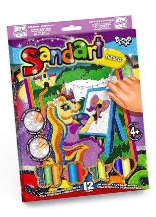 """Фреска из цветного песка """"Sandart"""" разные виды, картина песком"""